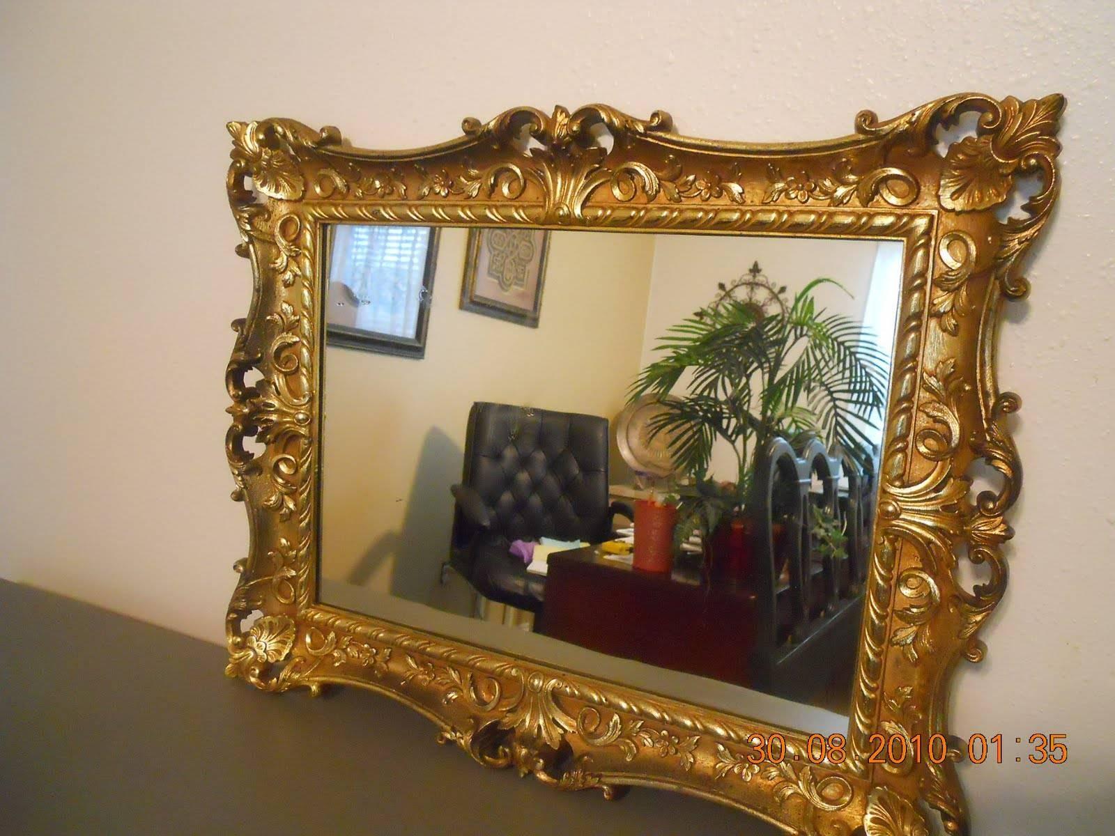 Flooring : Interior Decoration Antique Floorstanding Mirror pertaining to Ornate Mirrors (Image 15 of 25)