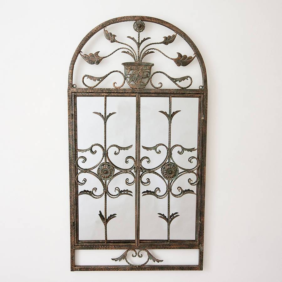 Floral Garden Window Mirrordecorative Mirrors Online Pertaining To Garden Window Mirrors (Photo 7 of 25)