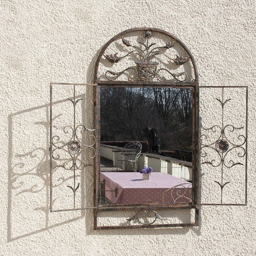 Floral Garden Window Mirrordecorative Mirrors Online with Garden Window Mirrors (Image 10 of 25)