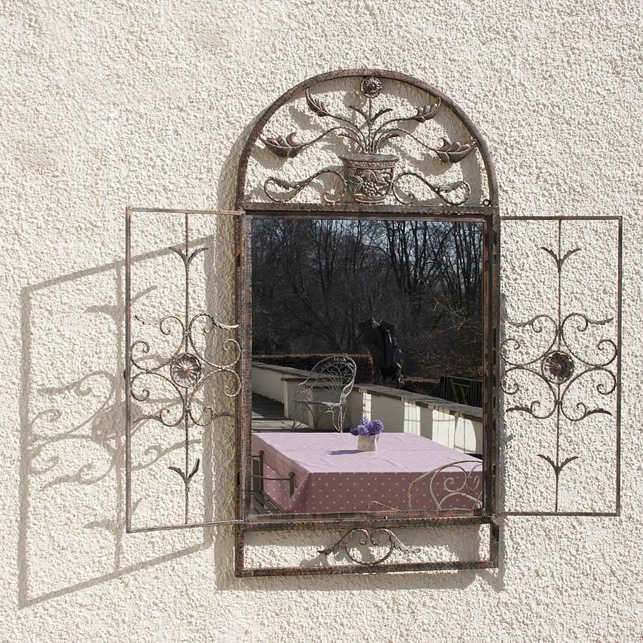 Floral Garden Window Mirrordecorative Mirrors Online With Garden Window Mirrors (Photo 13 of 25)