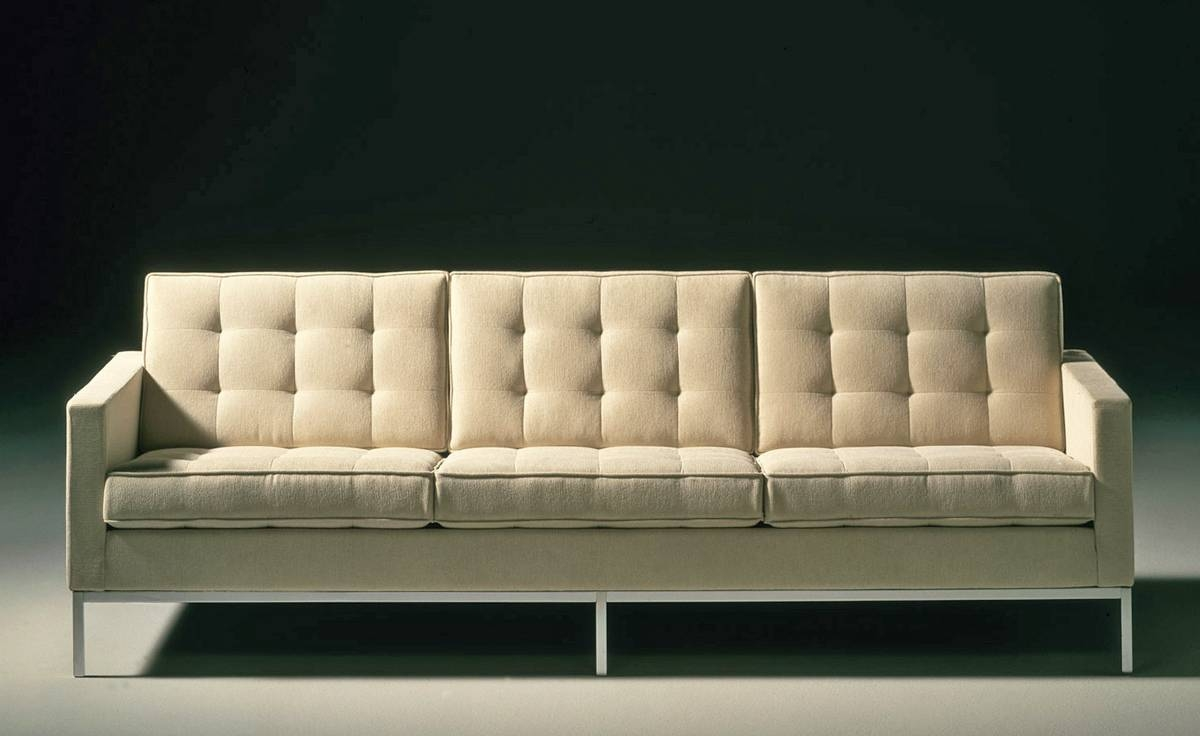 Florence Knoll 3 Seat Sofa - Hivemodern for Florence Knoll Leather Sofas (Image 4 of 25)