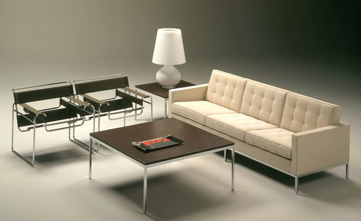 Florence Knoll 3 Seat Sofa - Hivemodern for Florence Knoll Wood Legs Sofas (Image 5 of 25)