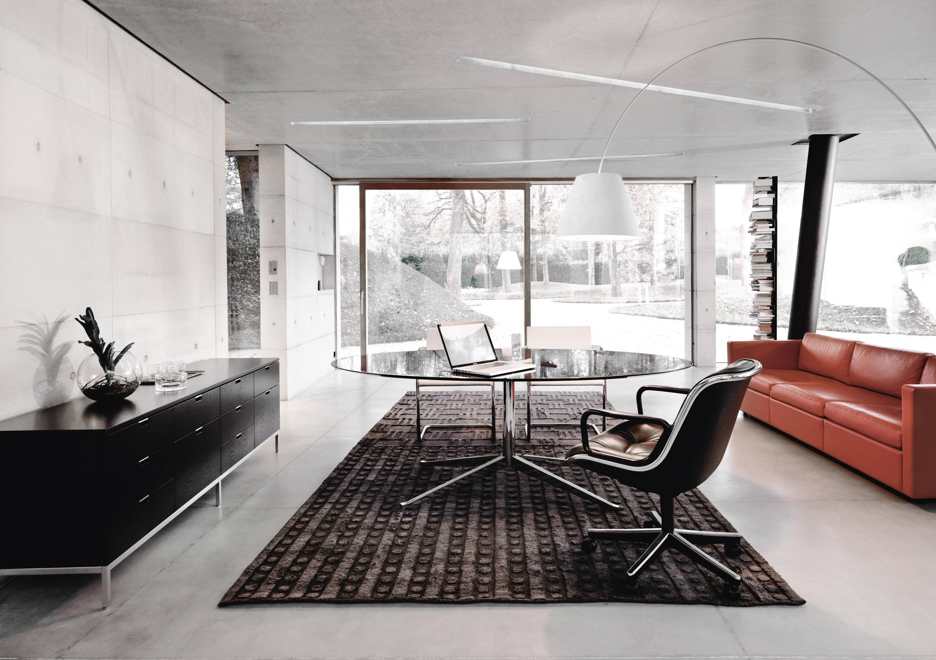 Florence Knoll Lounge 3 Seat Sofa - Lounge Sofas From Knoll for Florence Large Sofas (Image 6 of 30)