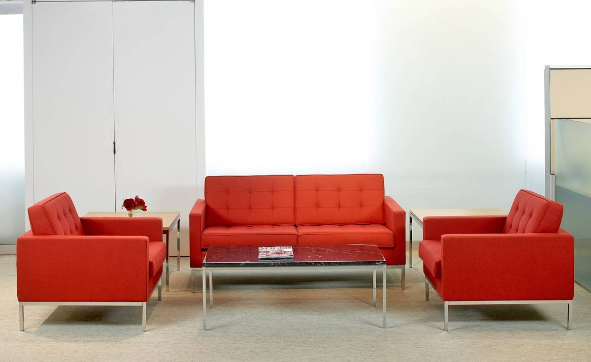 Florence Knoll Lounge Chair - Hivemodern intended for Florence Knoll Living Room Sofas (Image 12 of 25)