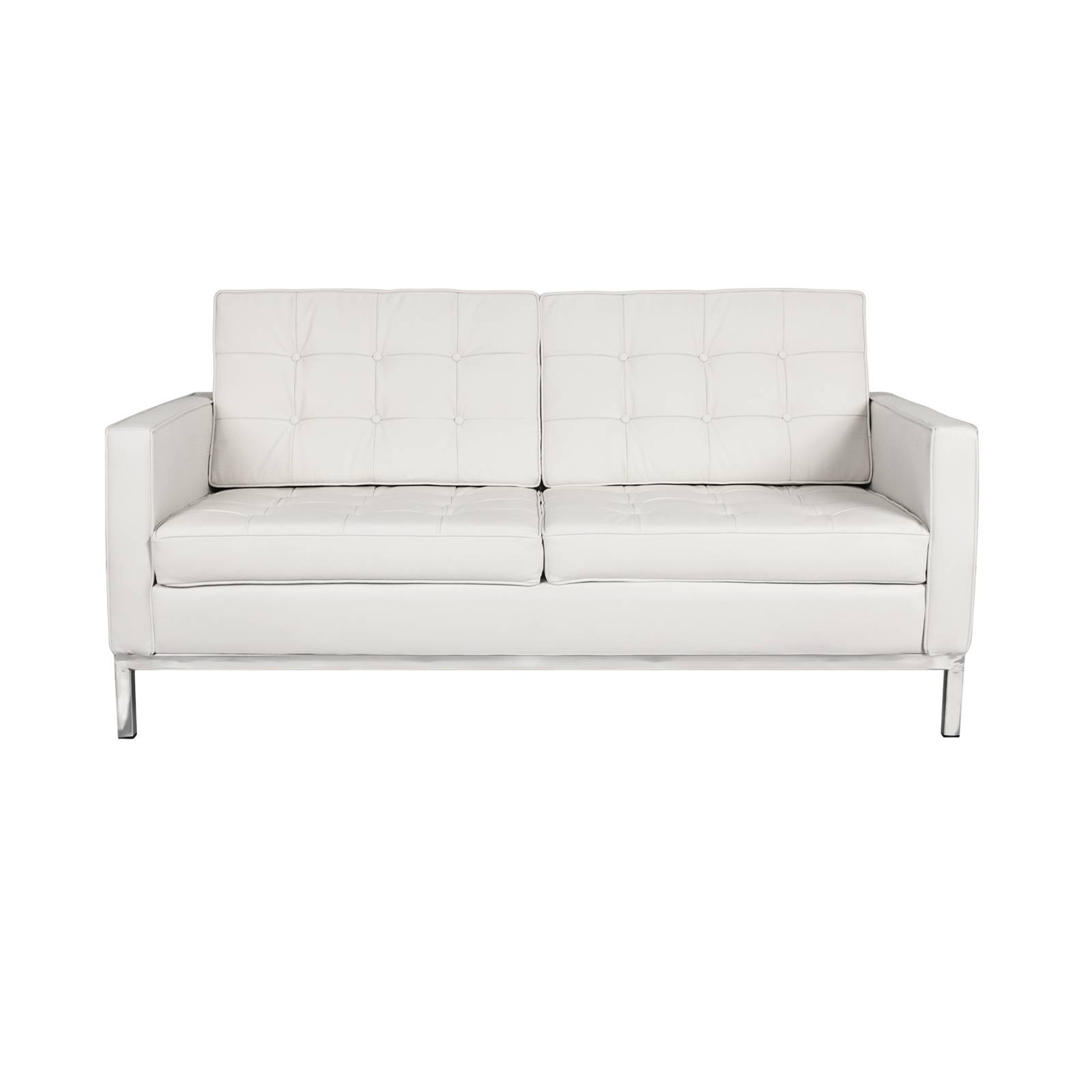 Florence Knoll Loveseat Rentals | Event Furniture Rental with Florence Sofas and Loveseats (Image 4 of 25)