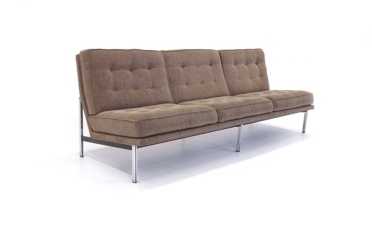 Florence Knoll Parallel Bar Three Seat Armless Sofa At 1Stdibs with Florence Grand Sofas (Image 7 of 25)