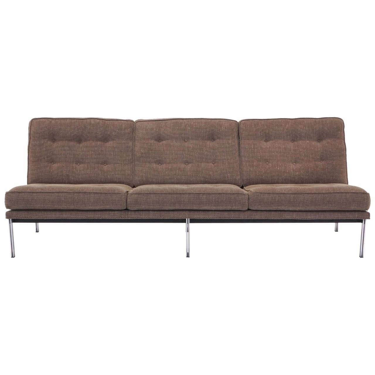 Florence Knoll Parallel Bar Three Seat Armless Sofa At 1Stdibs with regard to Florence Grand Sofas (Image 8 of 25)