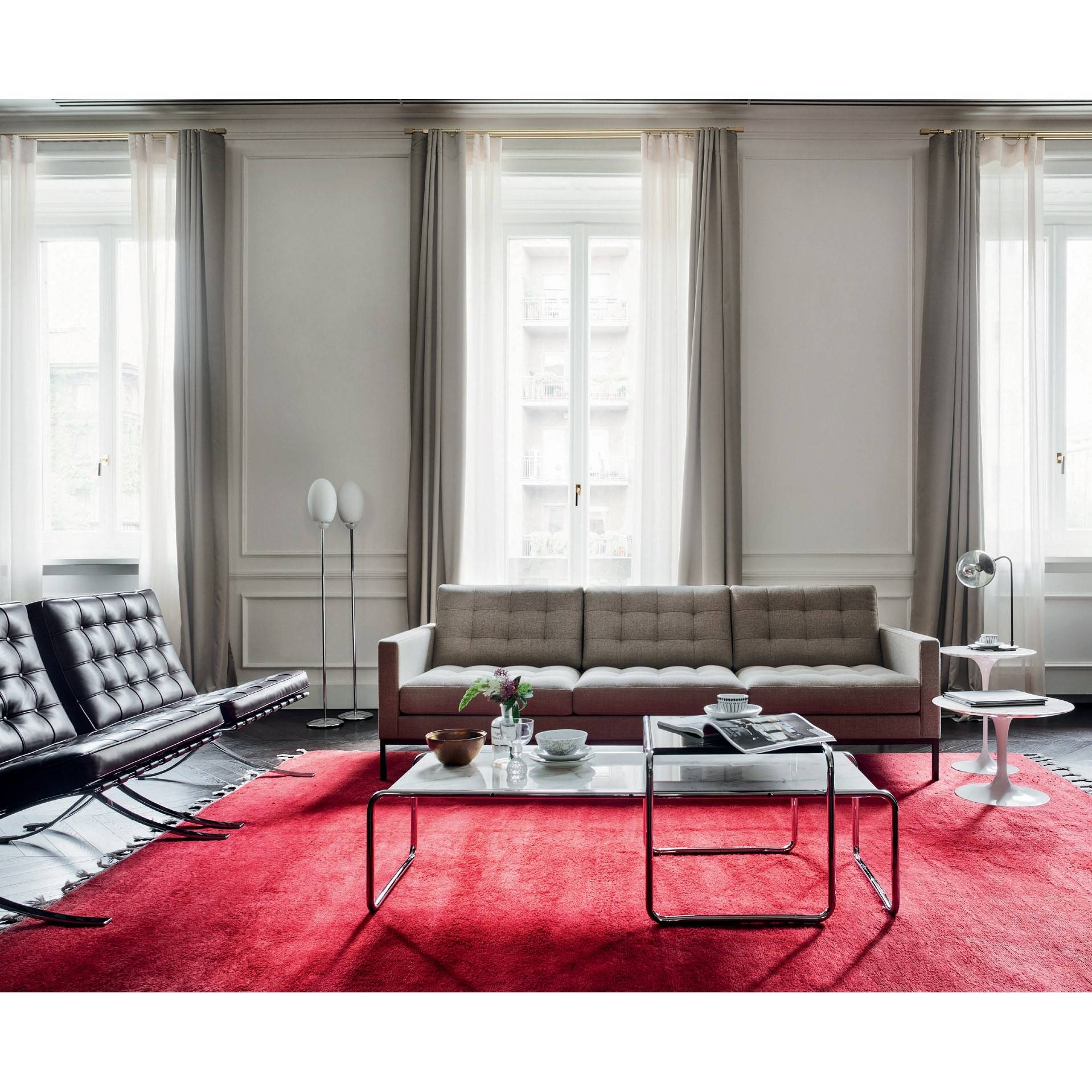 Florence Knoll 'relax' Sofa   Skandium for Florence Knoll Fabric Sofas (Image 7 of 25)