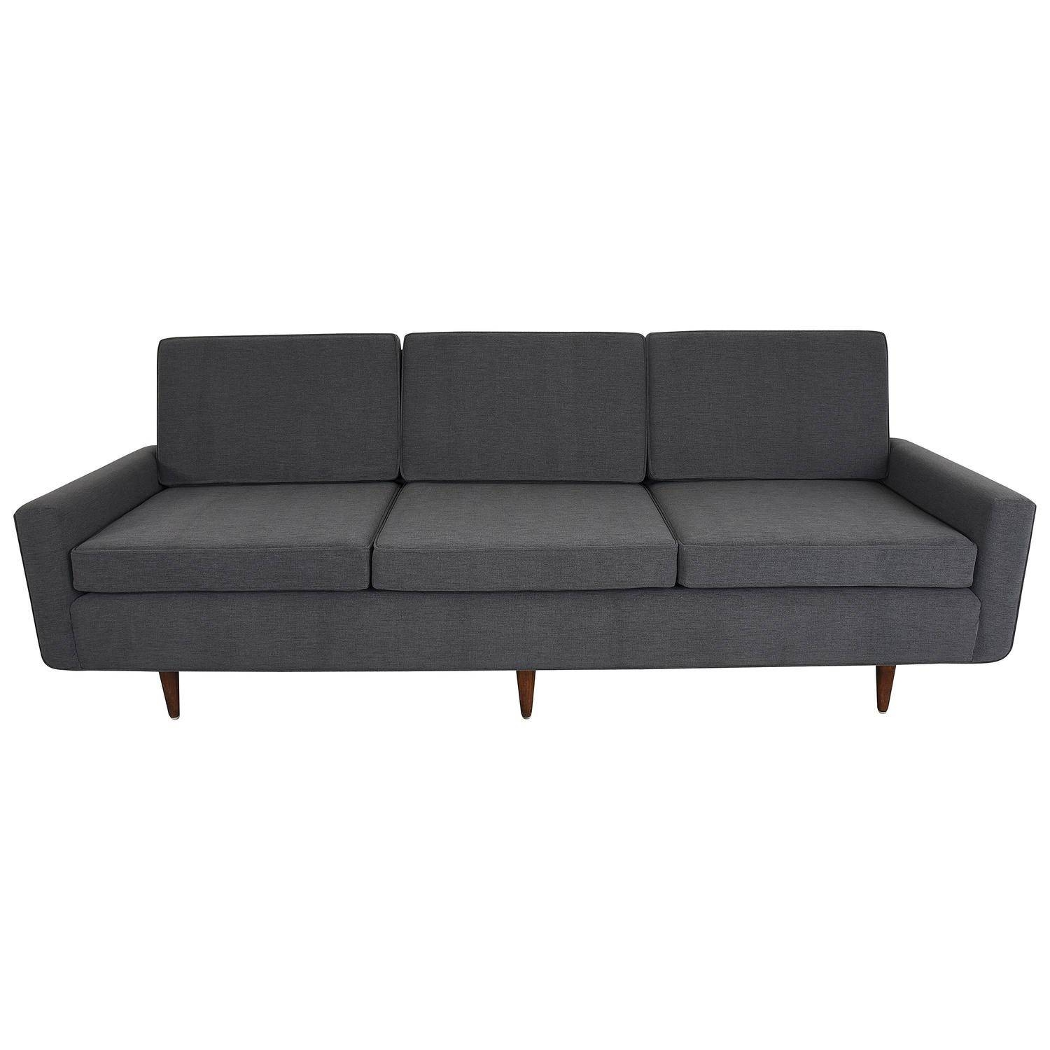 Florence Knoll Sofa Three-Seat Sofa, Model 26, Pair Available For with Florence Knoll Leather Sofas (Image 9 of 25)