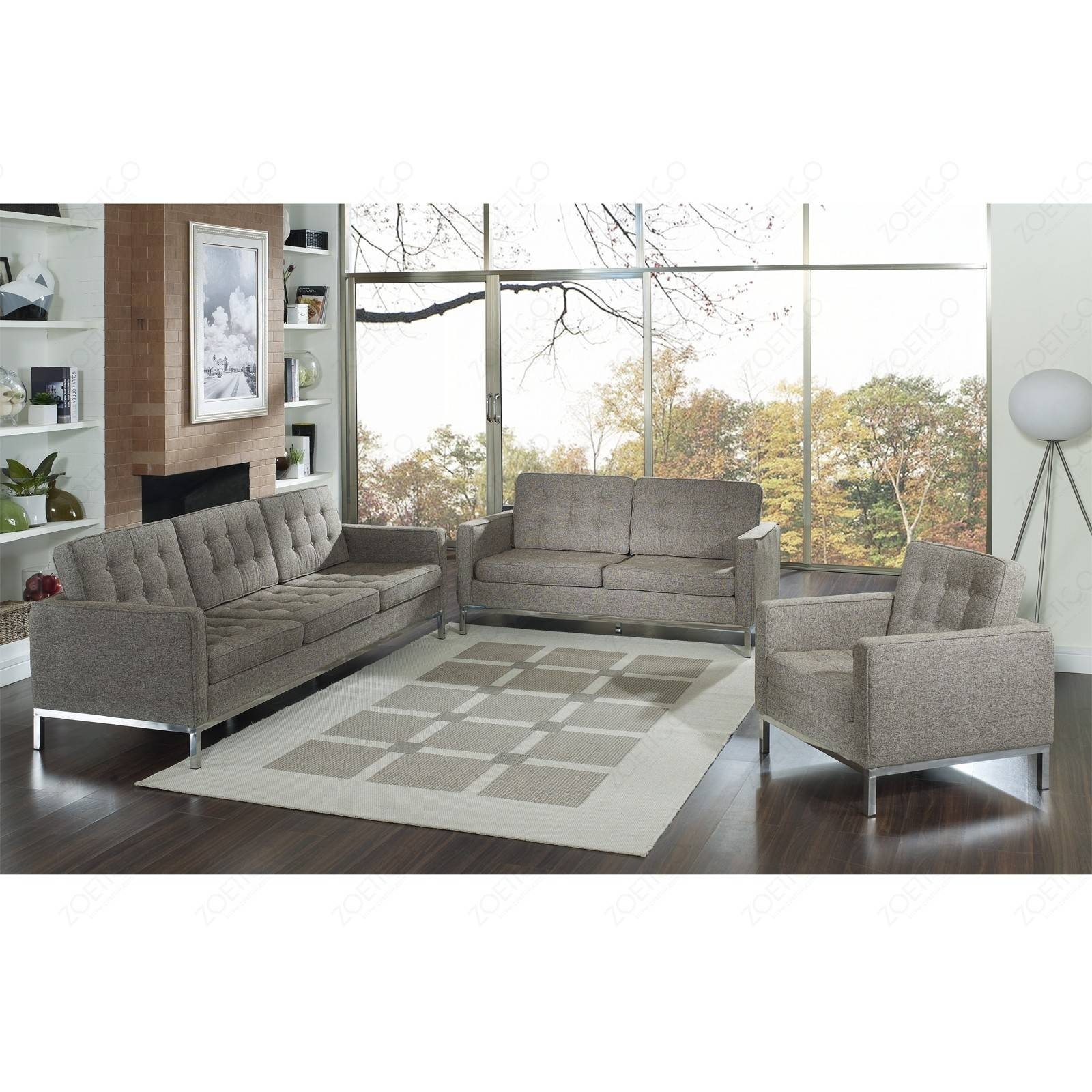 Florence Knoll Sofa with regard to Florence Knoll Fabric Sofas (Image 11 of 25)