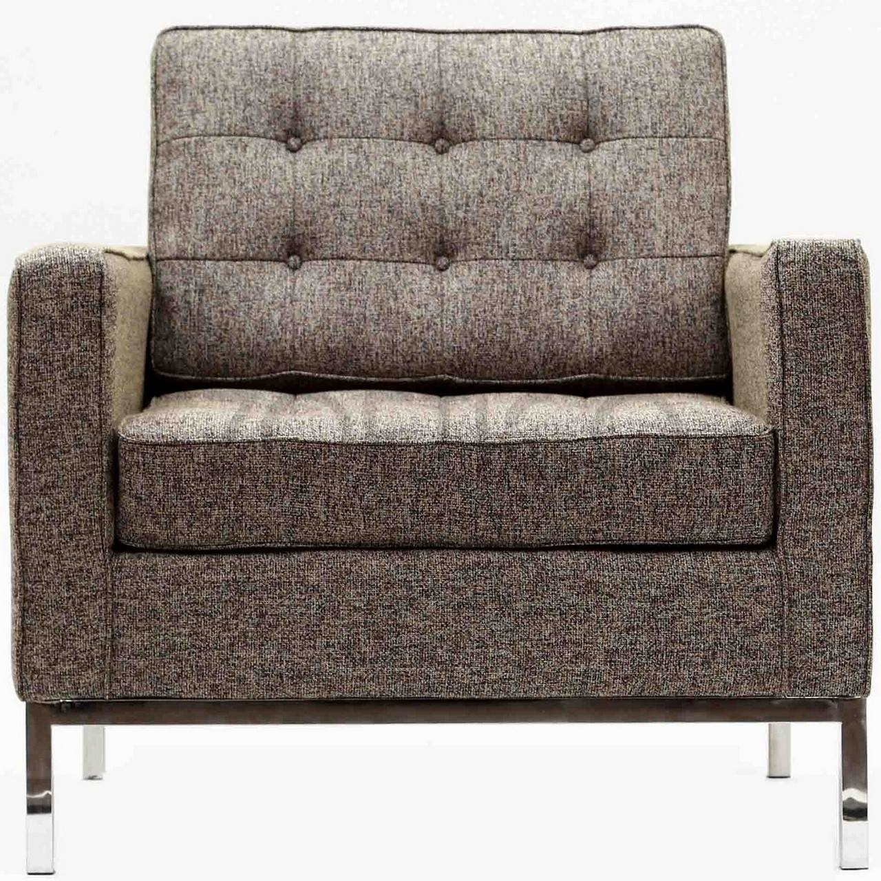 Florence Knoll Style Armchair In Fabric - (Multiple Colors for Florence Knoll Style Sofas (Image 5 of 25)