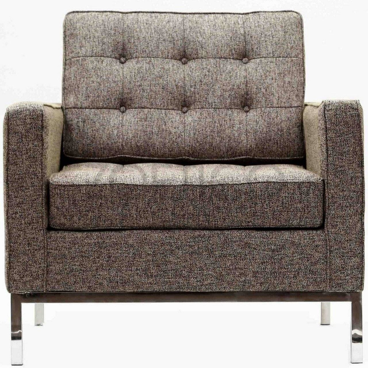 Florence Knoll Style Armchair In Fabric - (Multiple Colors inside Florence Knoll Fabric Sofas (Image 12 of 25)