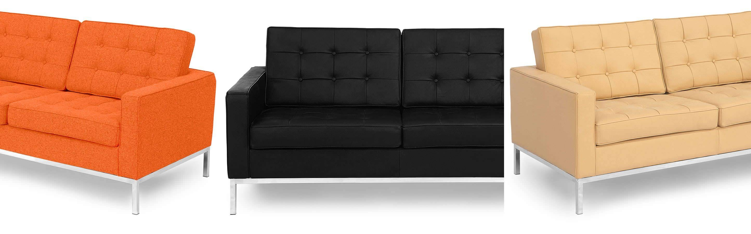Florence Knoll Style Loveseat 2 Seater Small Sofa Mid Century Modern intended for Florence Sofas And Loveseats (Image 10 of 25)