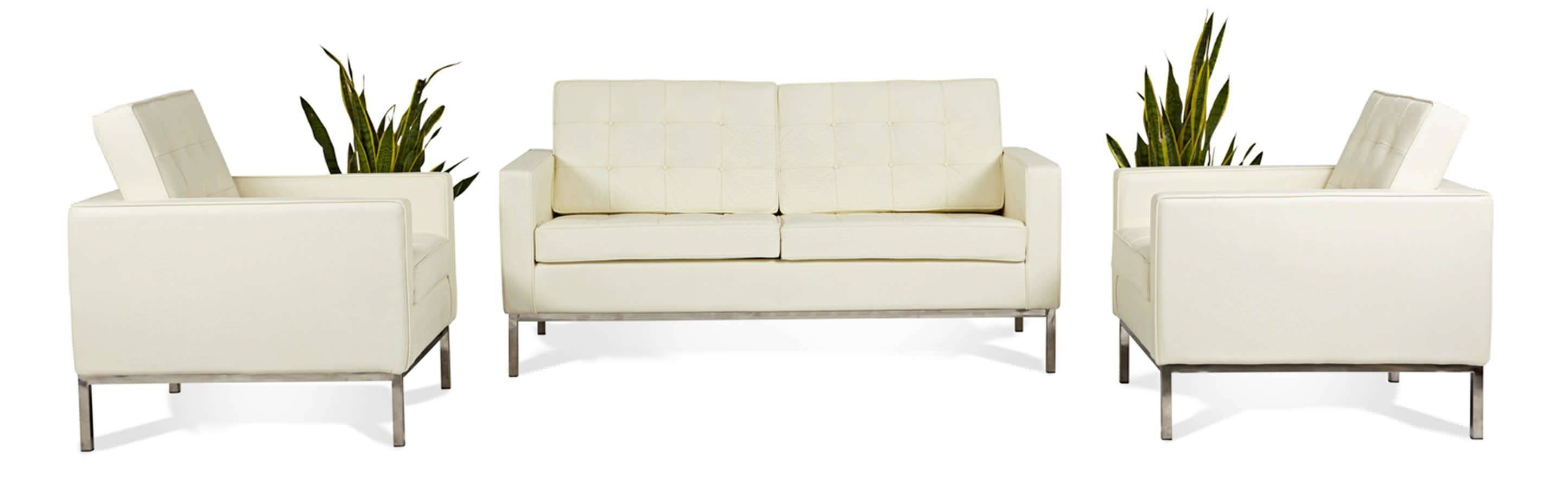 Florence Knoll Style Loveseat 2 Seater Small Sofa Mid Century Modern within Florence Sofas And Loveseats (Image 11 of 25)