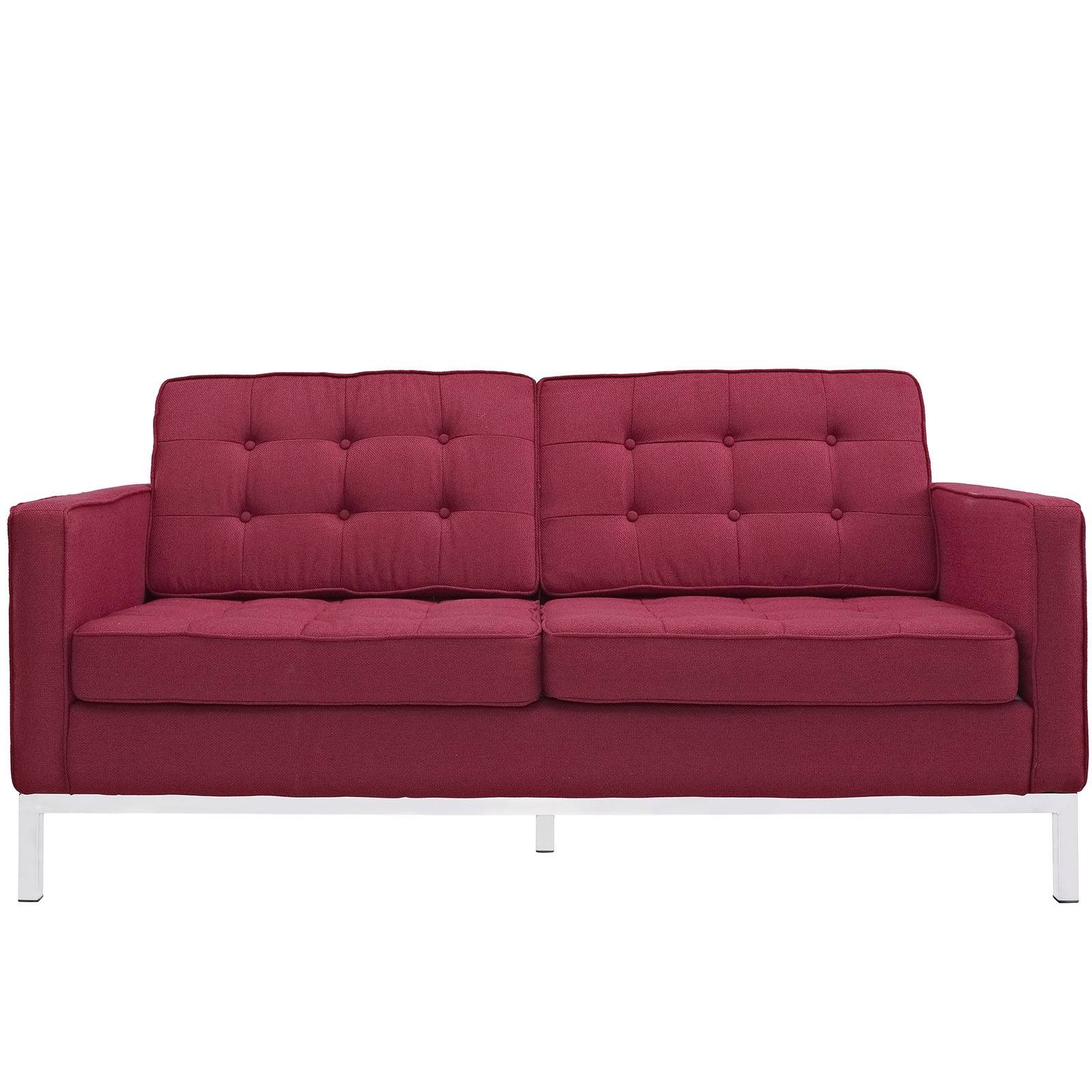 Florence Knoll Style Loveseat Couch - Wool for Florence Sofas And Loveseats (Image 12 of 25)