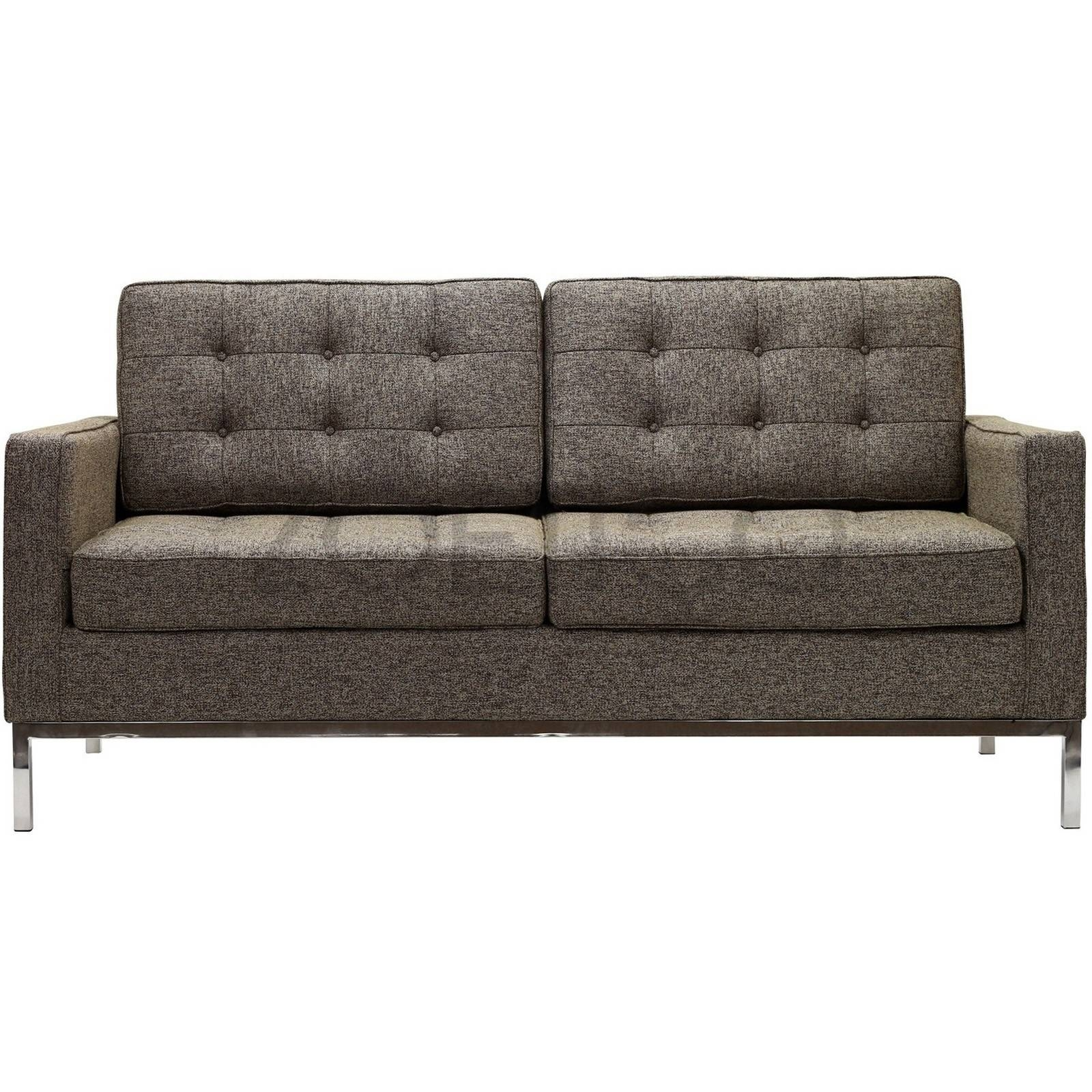 Florence Knoll Style Loveseat In Fabric - (Multiple Colors in Florence Knoll Fabric Sofas (Image 13 of 25)