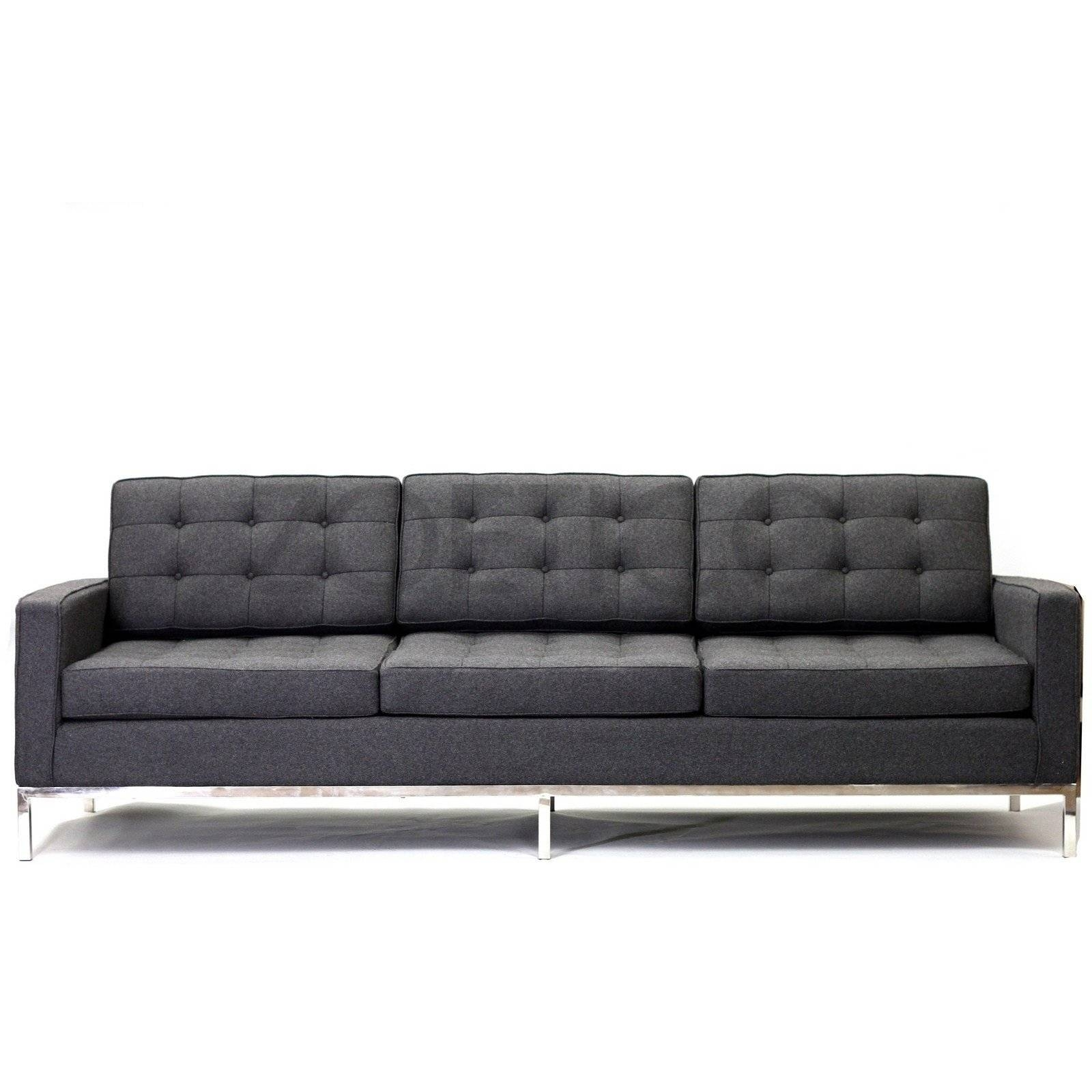 Florence Knoll Style Sofa In Fabric - (Multiple Colors/materials in Florence Knoll Fabric Sofas (Image 14 of 25)