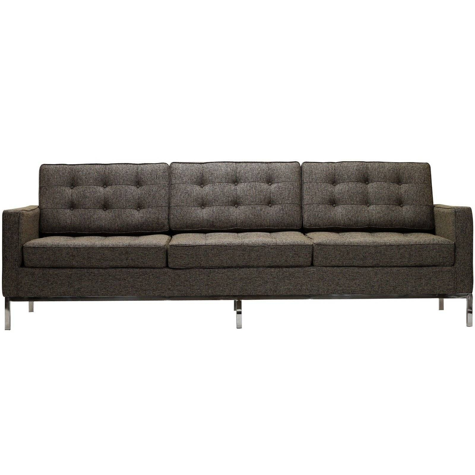 Florence Knoll Style Sofa In Fabric - (Multiple Colors/materials inside Florence Grand Sofas (Image 12 of 25)
