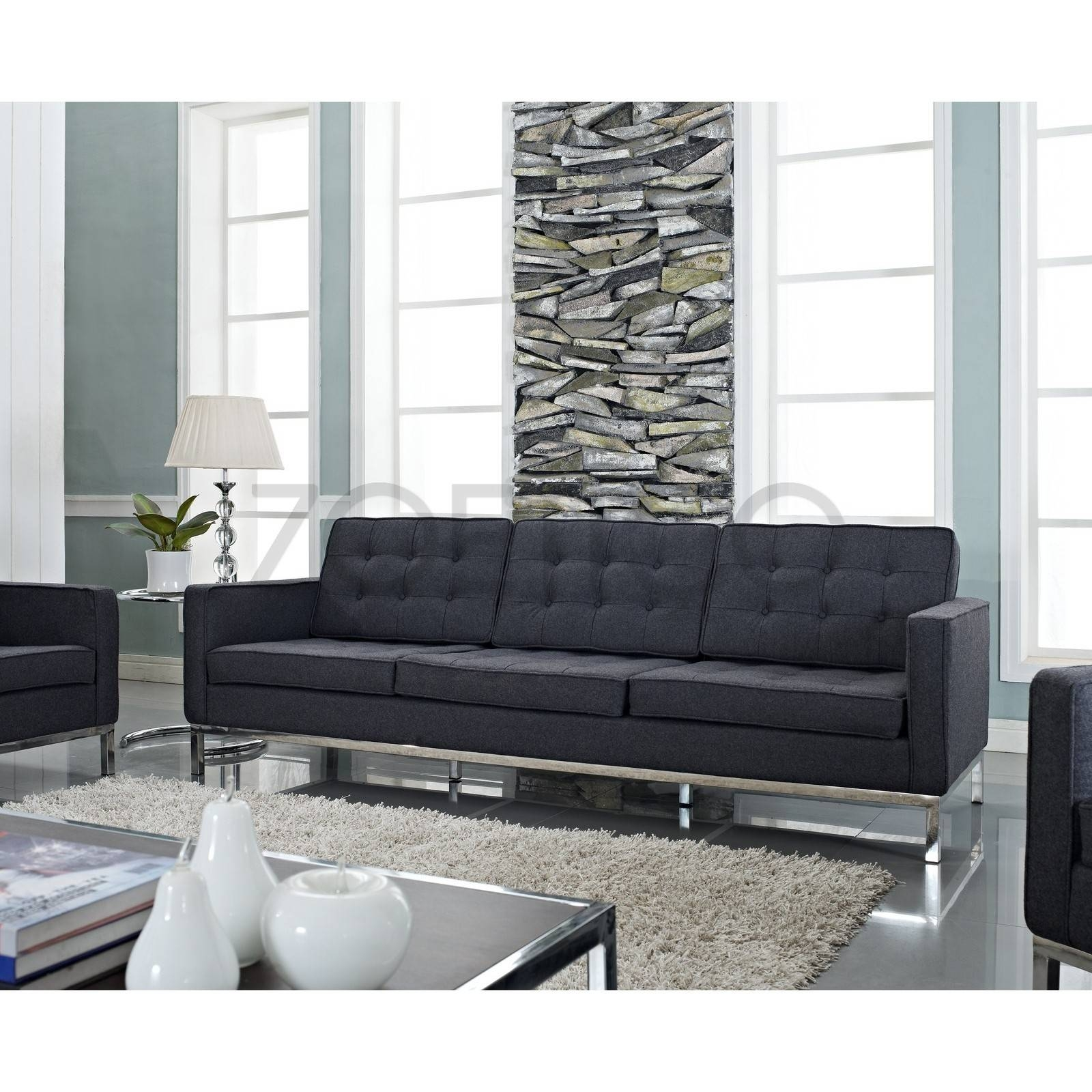 Florence Knoll Style Sofa In Fabric - (Multiple Colors/materials intended for Florence Sofas (Image 14 of 30)