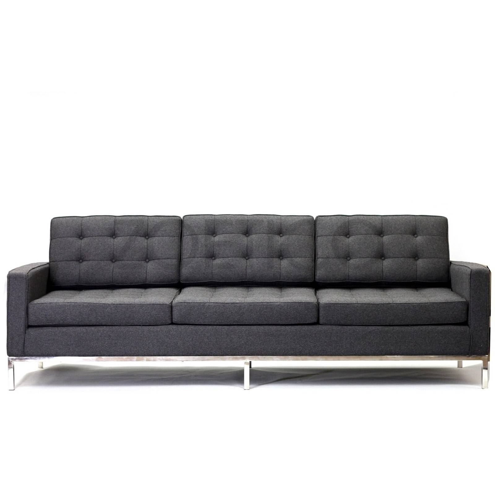 Florence Knoll Style Sofa In Fabric - (Multiple Colors/materials throughout Florence Knoll Style Sofas (Image 12 of 25)
