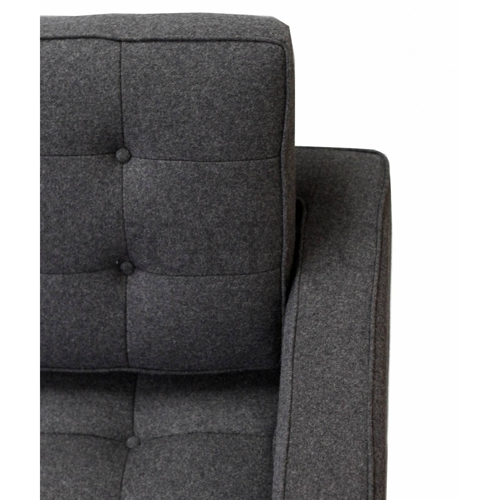 Florence Knoll Style Sofa In Fabric - (Multiple Colors/materials with Florence Grand Sofas (Image 15 of 25)