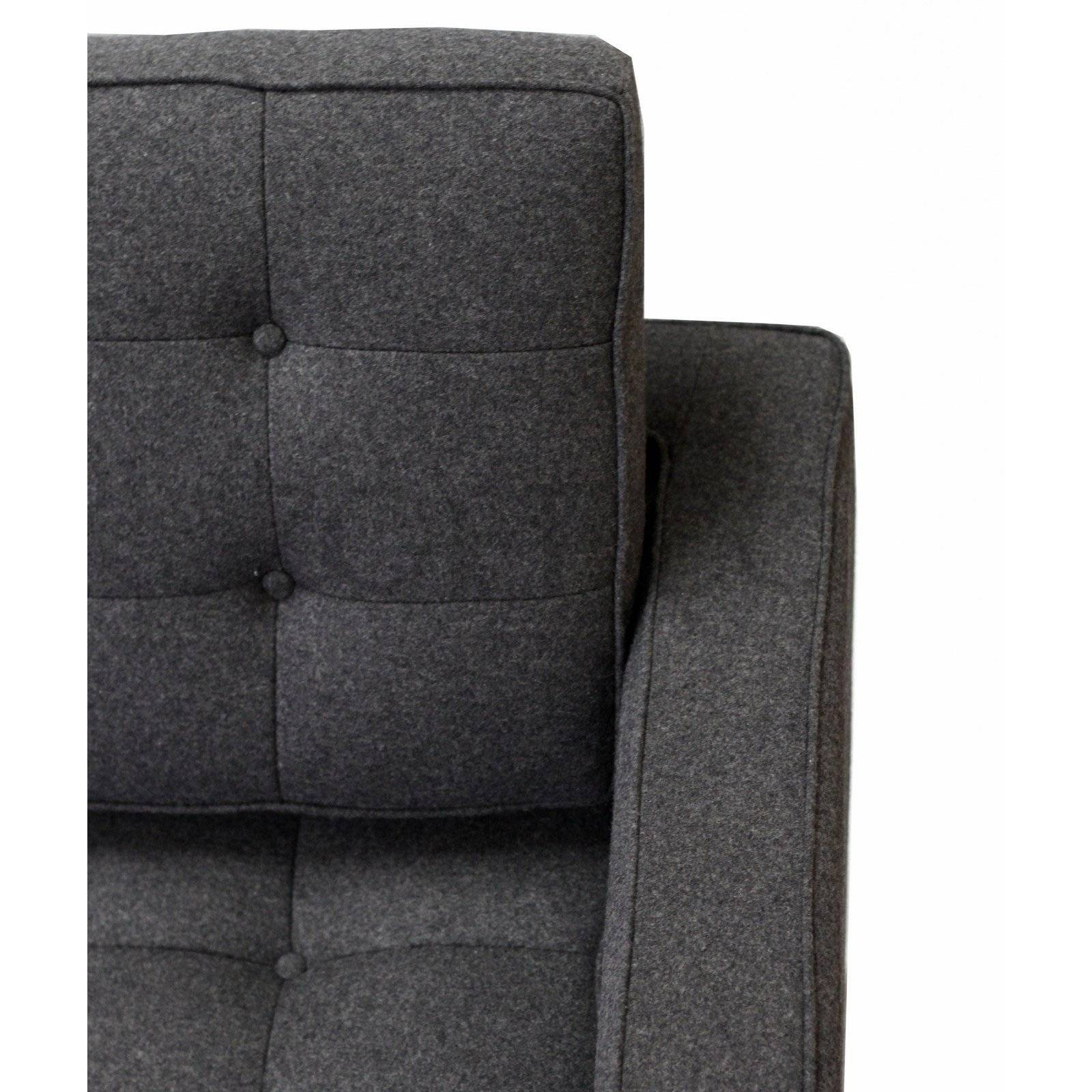 Florence Knoll Style Sofa In Fabric - (Multiple Colors/materials with Florence Knoll Fabric Sofas (Image 17 of 25)
