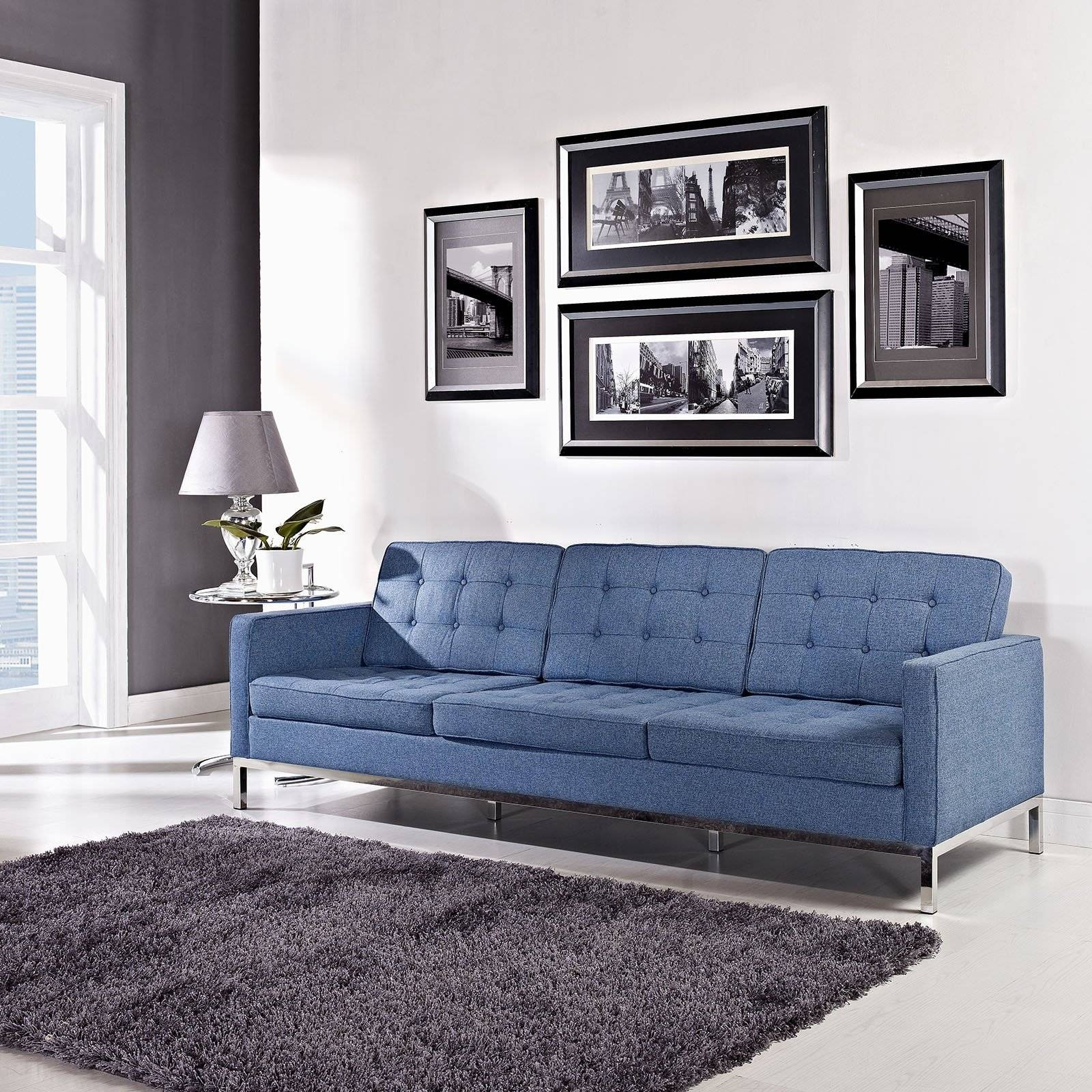 Florence Knoll Style Sofa In Fabric - (Multiple Colors/materials with Florence Knoll Living Room Sofas (Image 20 of 25)