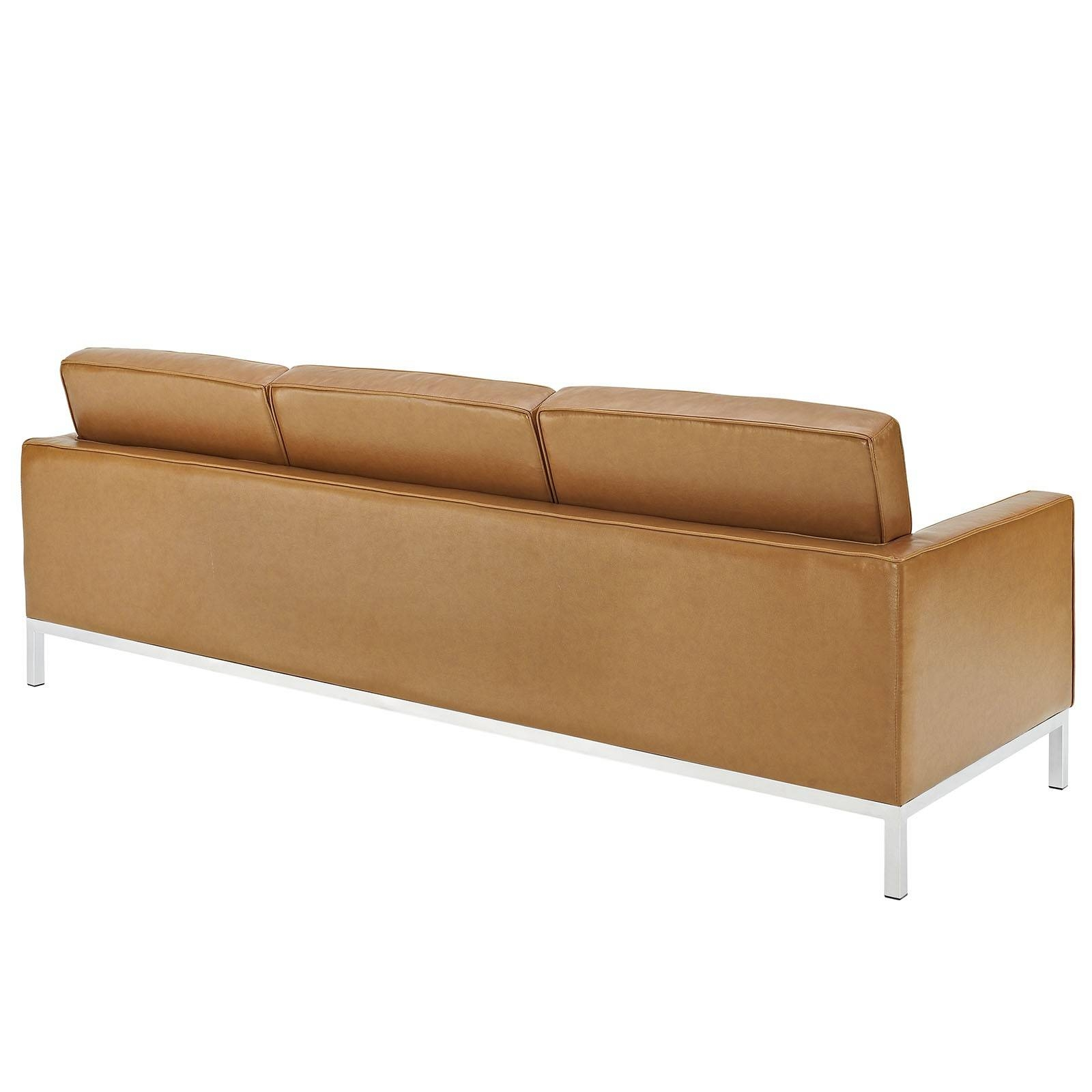 Florence Knoll Style Sofa In Leather (Multiple Colors/materials regarding Florence Leather Sofas (Image 18 of 30)
