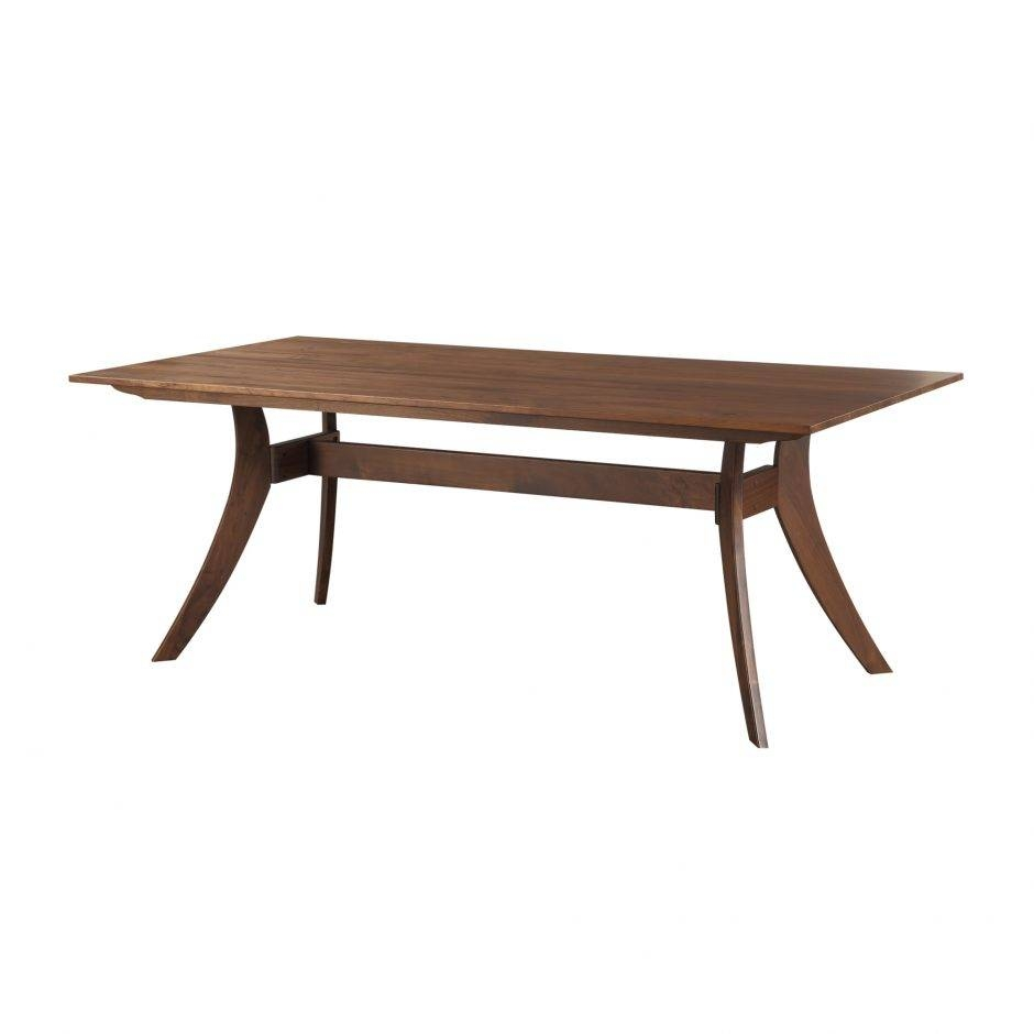 Florence Rectangular Dining Table Large Walnut | Products | Moe's pertaining to Florence Large Sofas (Image 8 of 30)