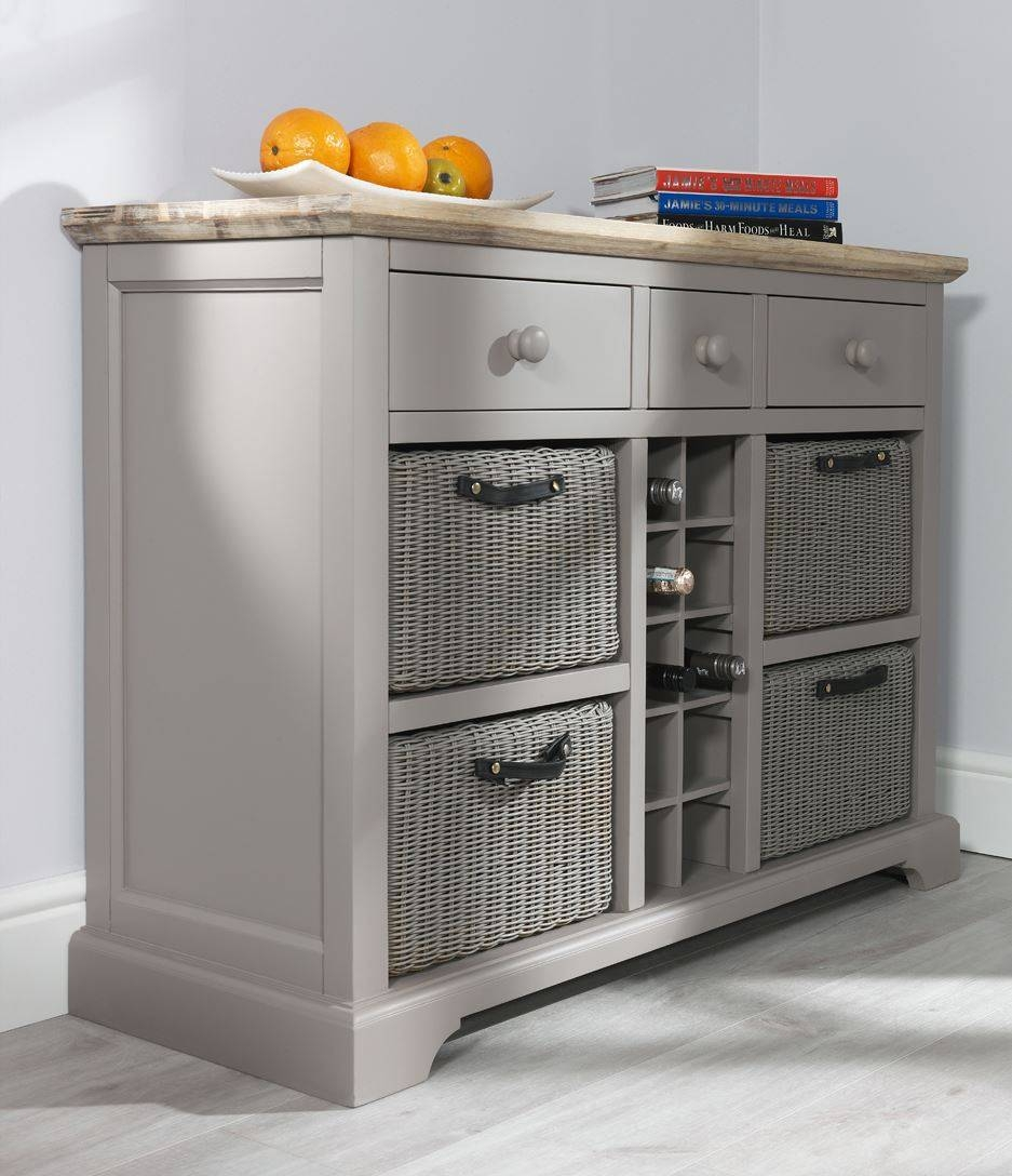 Florence Sideboard With Wine Rack.kitchen Sideboard And Storage with Sideboards With Wine Racks (Image 5 of 30)