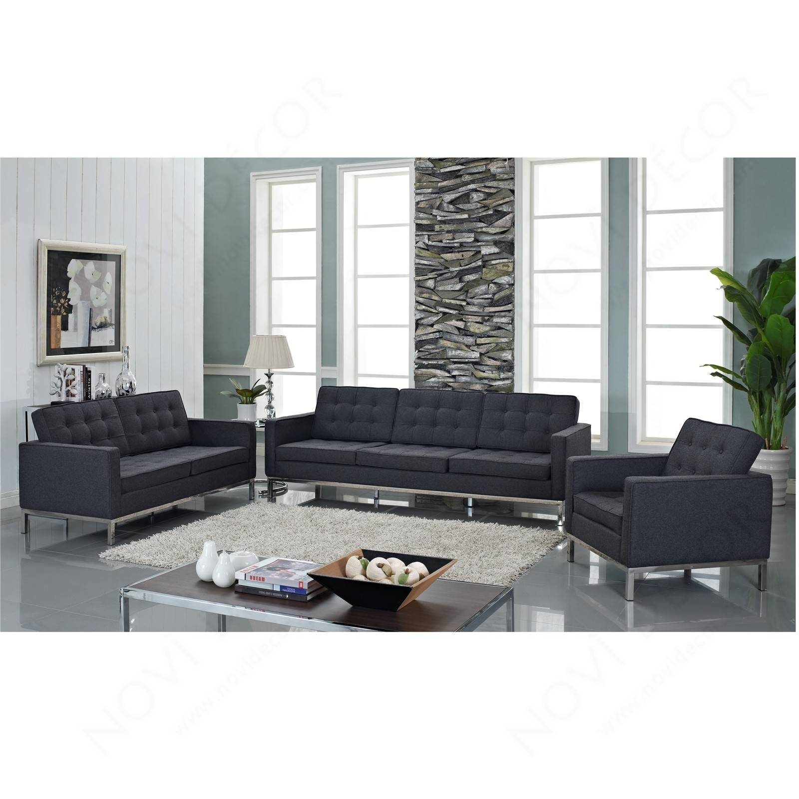Florence Style Loveseat In Wool (Multiple Colors) | Designer with Florence Sofas And Loveseats (Image 16 of 25)