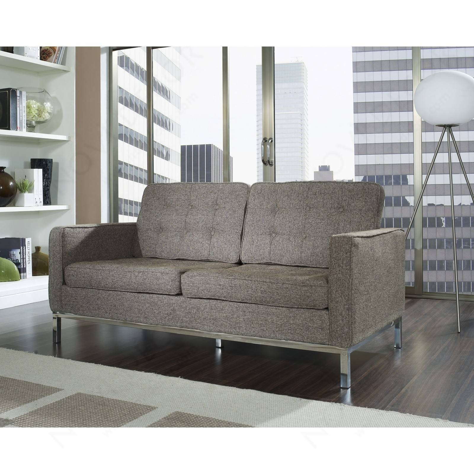 Florence Style Loveseat In Wool (Multiple Colors) | Designer within Florence Sofas and Loveseats (Image 18 of 25)