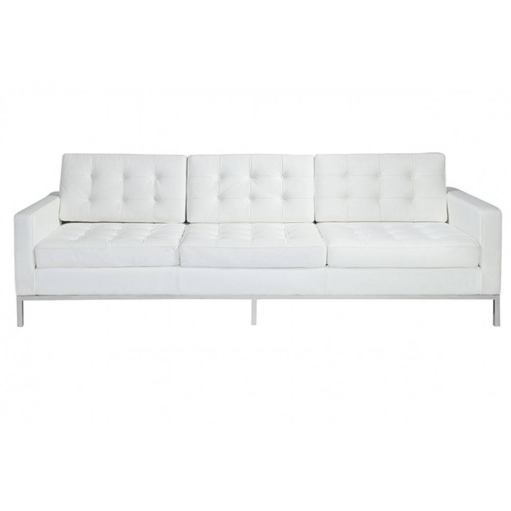Florence Style Sofa In Black, White And White Leather - Home And pertaining to Florence Leather Sofas (Image 20 of 30)