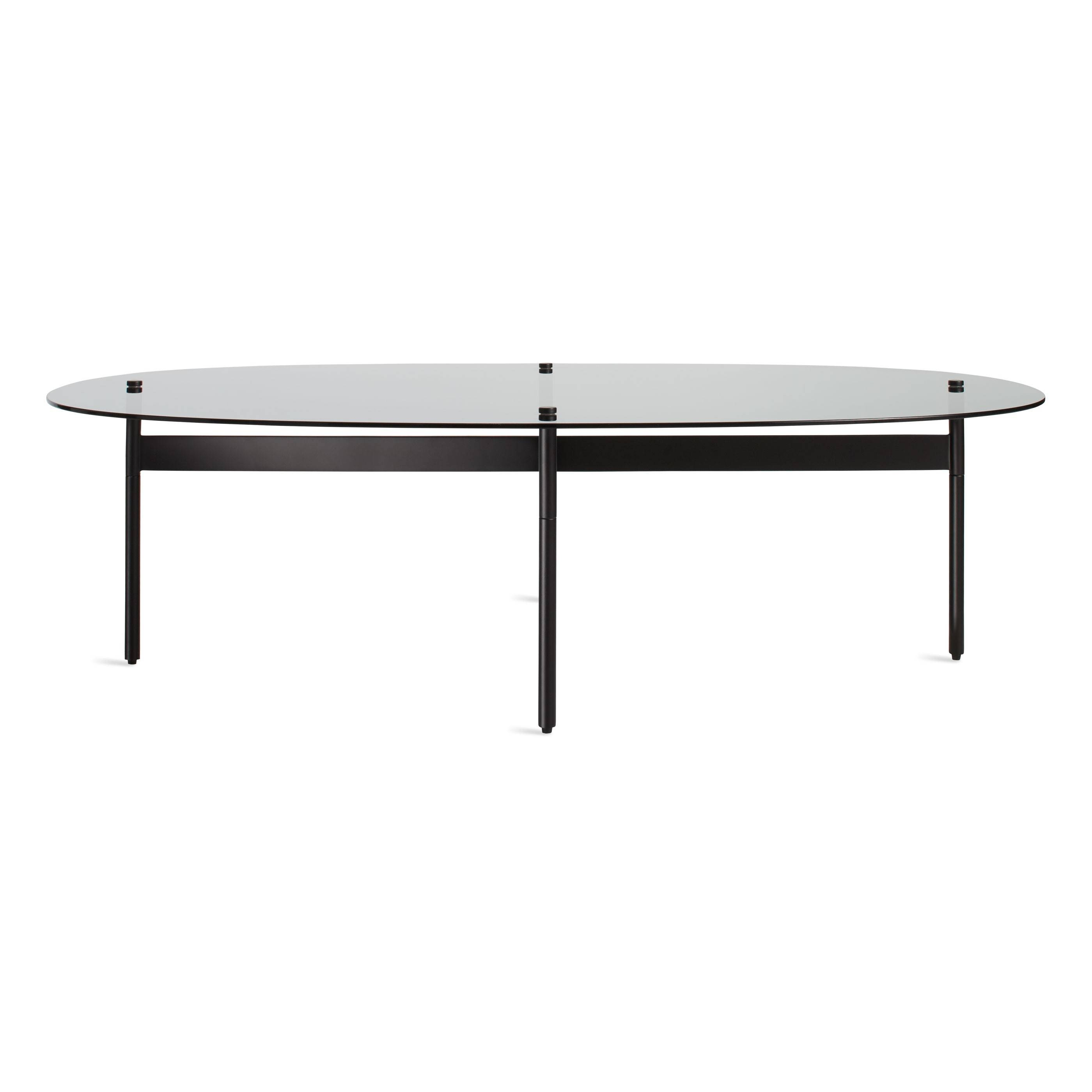 Flume Coffee Table - Modern Oval Coffee Table | Blu Dot in Black Oval Coffee Table (Image 16 of 30)