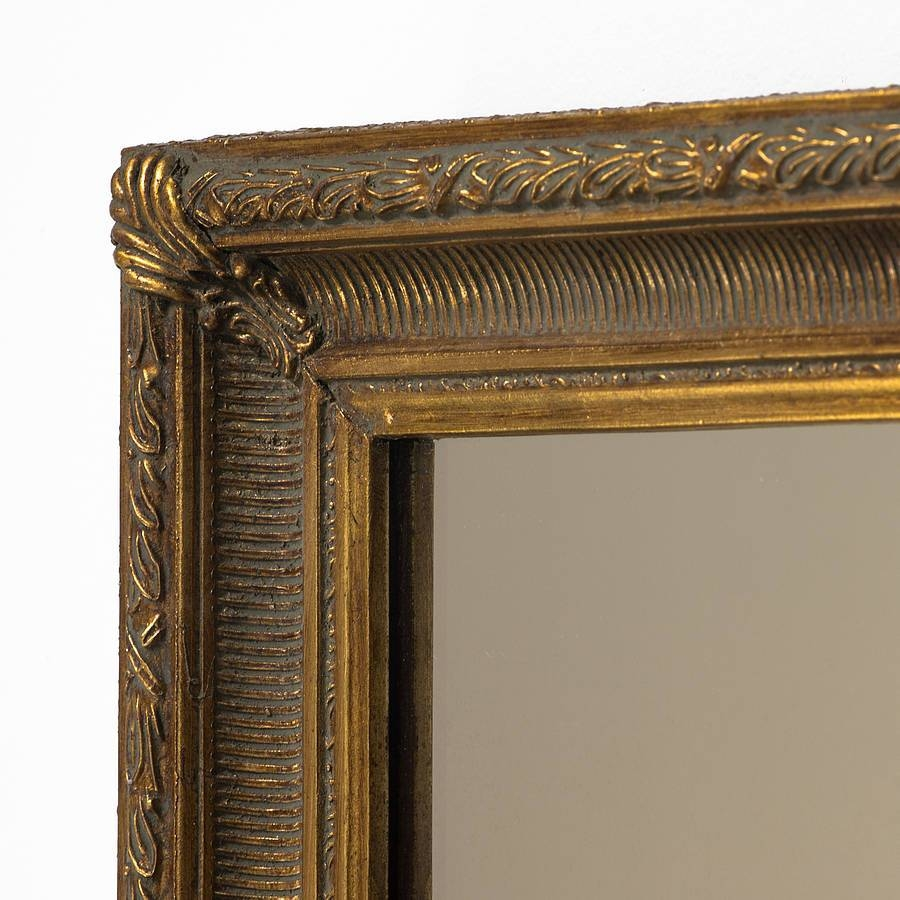 Fluted Antique Gold Mirrorhand Crafted Mirrors Throughout Antique Gold Mirrors (View 20 of 25)