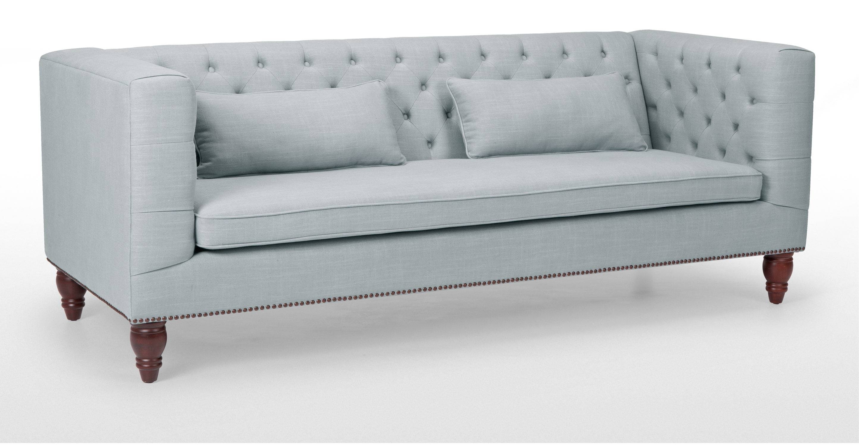 Flynn 3 Seater Sofa In Persian Grey | Made intended for Three Seater Sofas (Image 17 of 30)