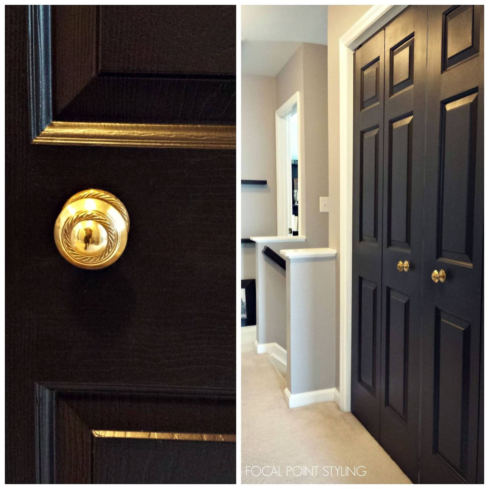 Focal Point Styling: How To Paint Interior Doors Black & Update within Dark Wood Wardrobe Doors (Image 13 of 30)