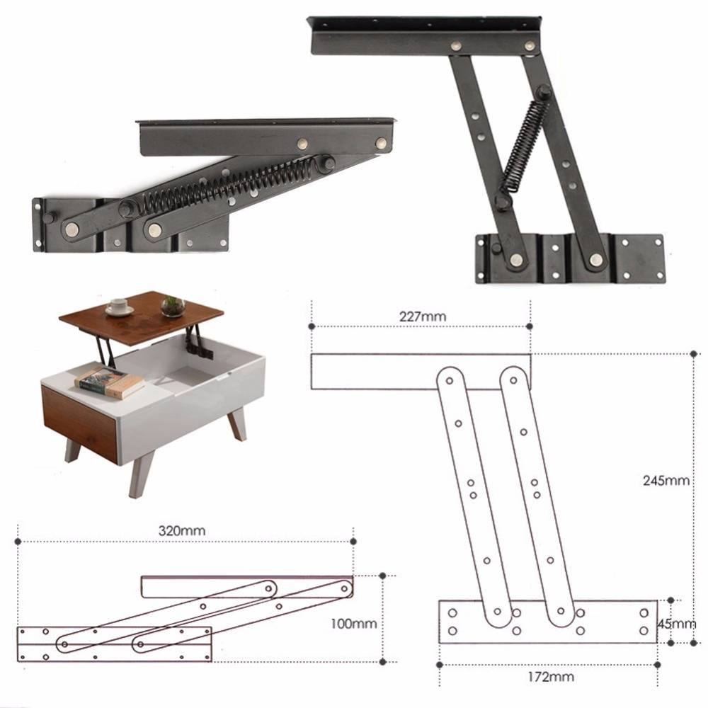 Foldable Lift Up Top Coffee Table Lifting Frame Mechanism Spring for Lift Up Top Coffee Tables (Image 12 of 30)