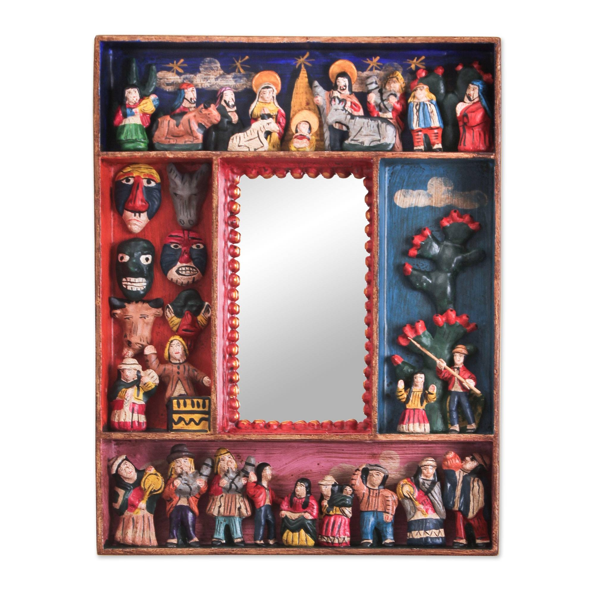Folk Art Mirrors - Folk Art Mirror Collection At Novica with regard to Red Mirrors (Image 13 of 25)