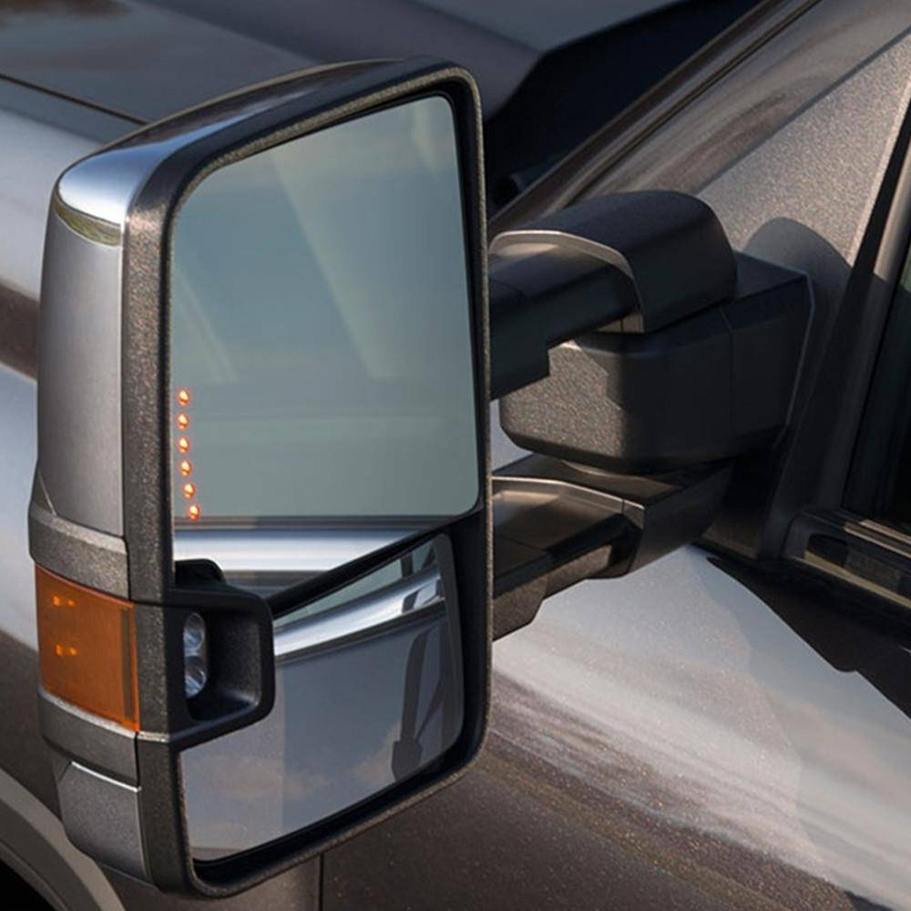 For 99-06 Silverado Sierra Towing Chrome Mirrors Turn Signals with Chrome Mirrors (Image 12 of 25)