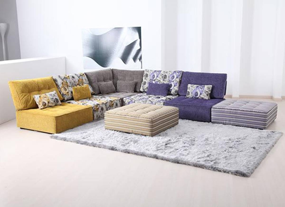 For Sofa Fabric Stip Sofa Small Living Room (Image 9 of 30)