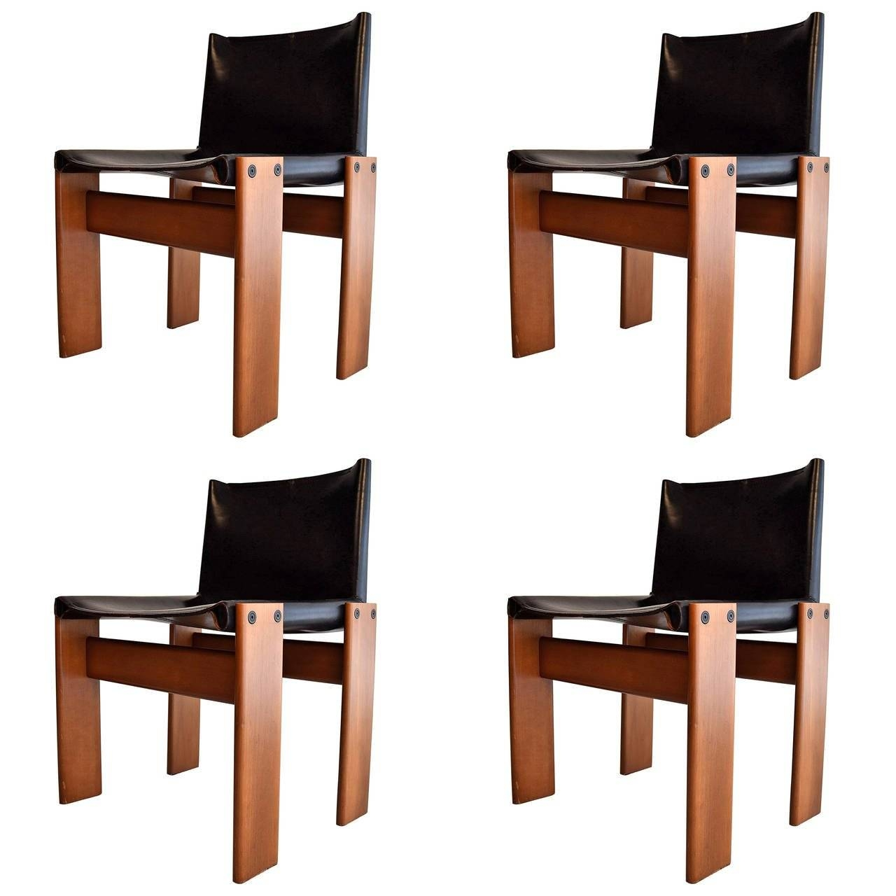 """Four 1974 """"monk"""" Chairsafra And Tobia Scarpa For Sale At 1stdibs Inside Monk Chairs (View 7 of 30)"""