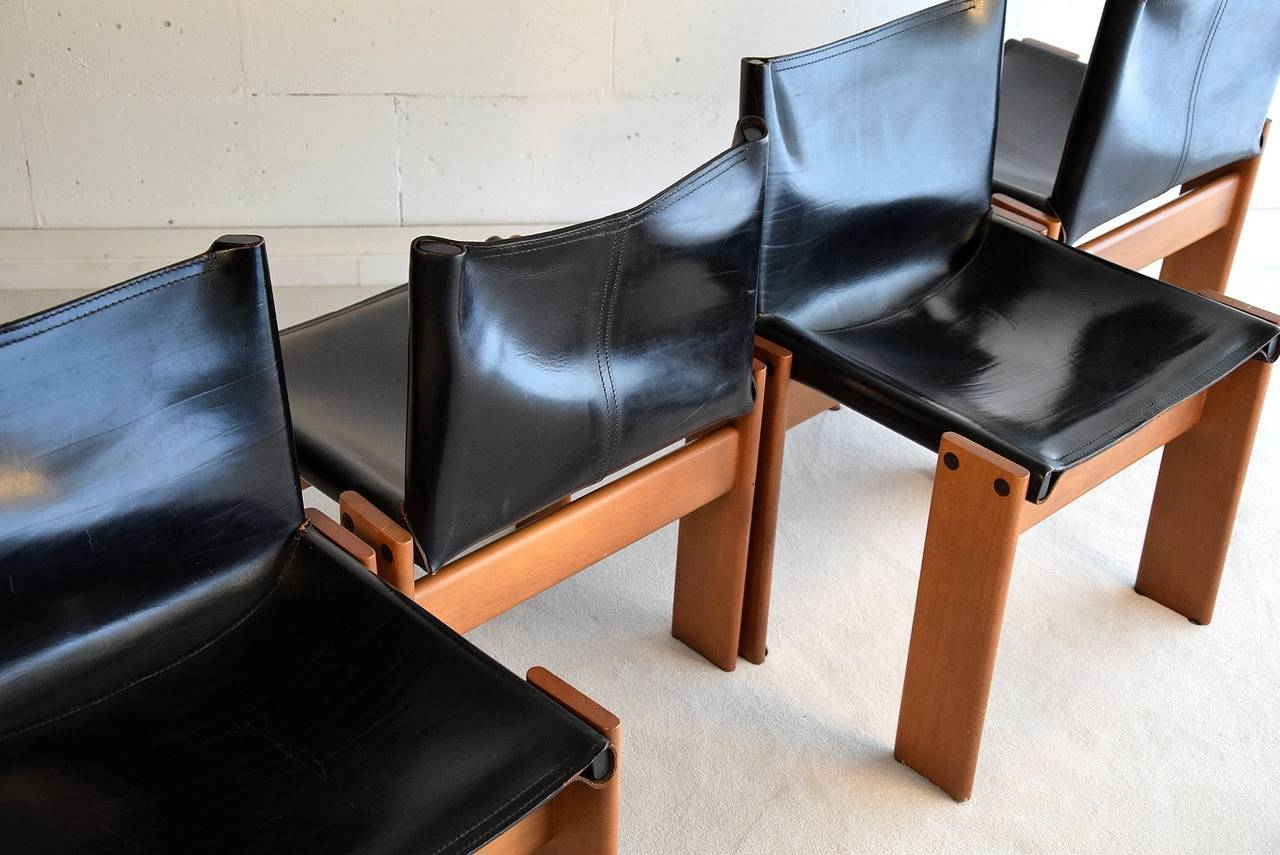 """Four 1974 """"monk"""" Chairsafra And Tobia Scarpa For Sale At 1stdibs Within Monk Chairs (View 9 of 30)"""