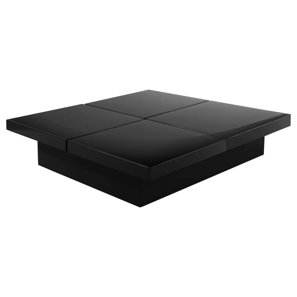 Four Block Storage Coffee Table Black - Dwell for White And Black Coffee Tables (Image 9 of 30)