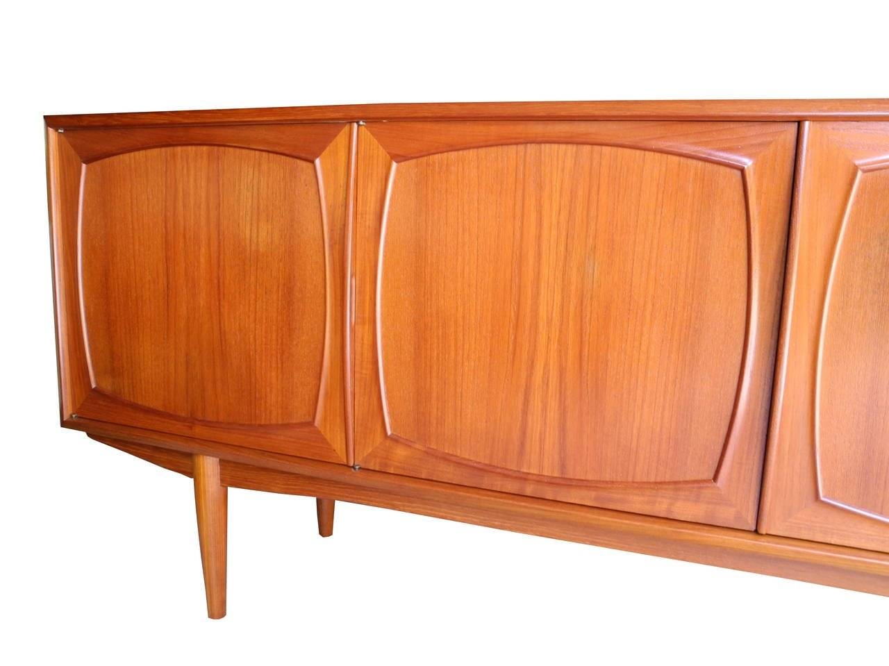 Four-Door Danish Modern Teak Sideboard Or Credenzajohannes in Ready Made Sideboards (Image 19 of 30)