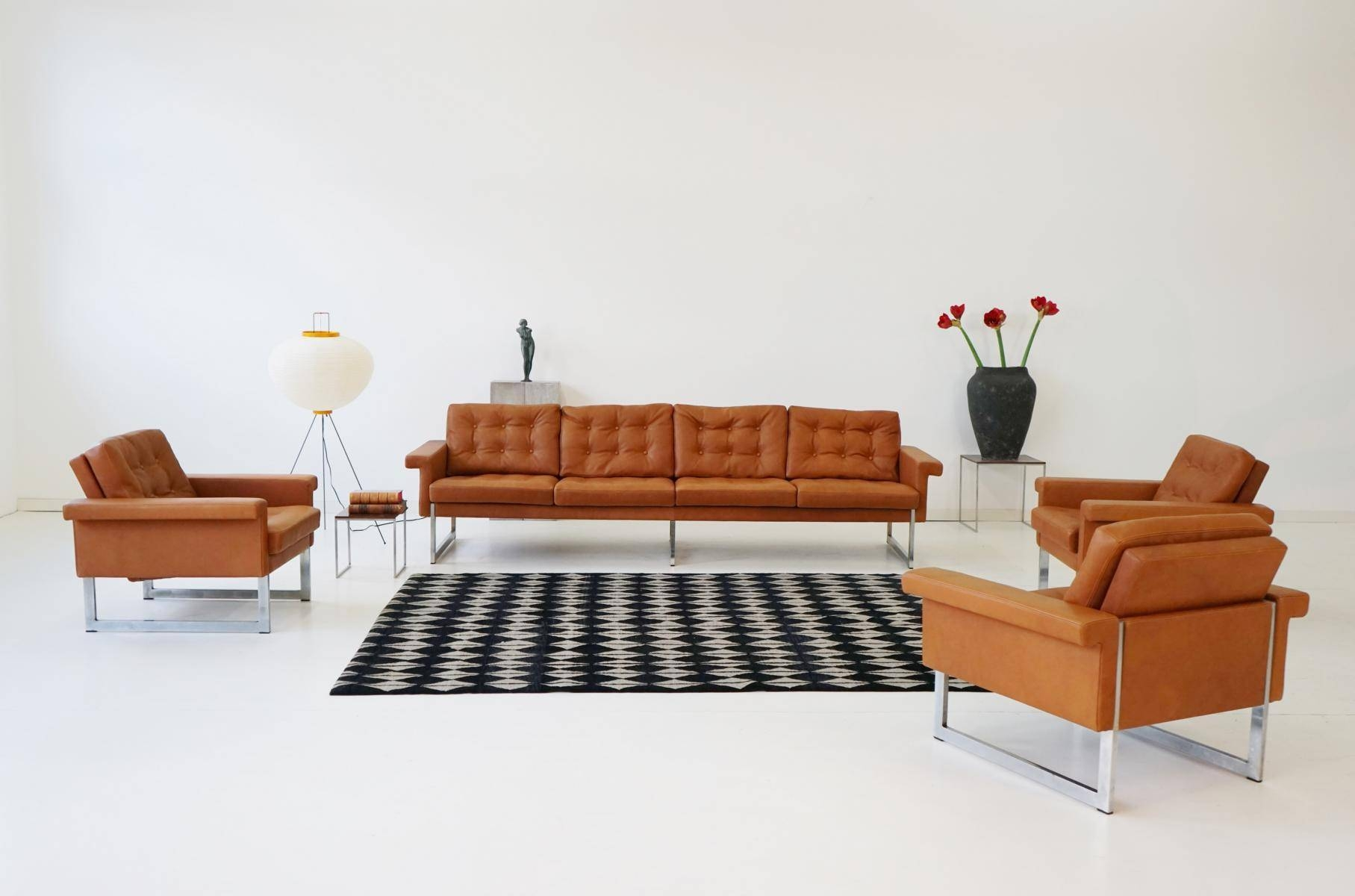Four-Seater Sofa & Lounge Chairs From Kill International, 1967 For intended for Four Seater Sofas (Image 8 of 30)