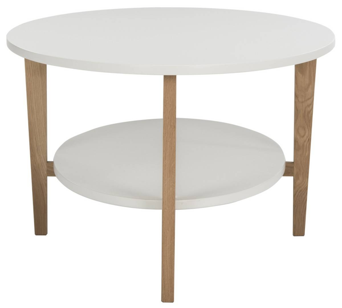 Fox8201A Coffee Tables - Furnituresafavieh intended for White Oval Coffee Tables (Image 11 of 30)