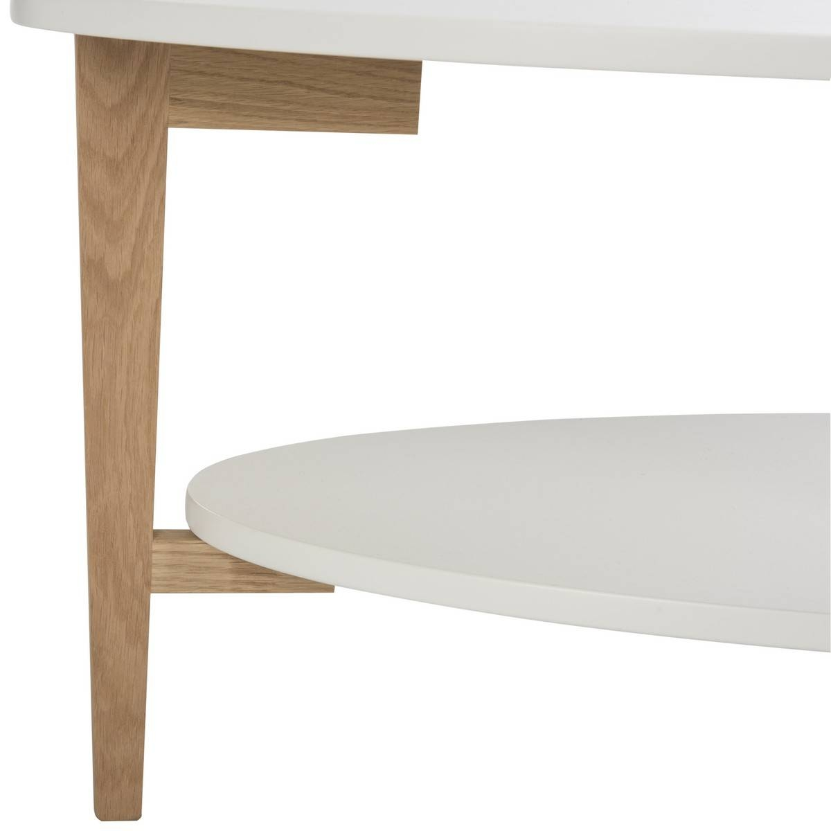 Fox8201A Coffee Tables - Furnituresafavieh pertaining to White Oval Coffee Tables (Image 12 of 30)