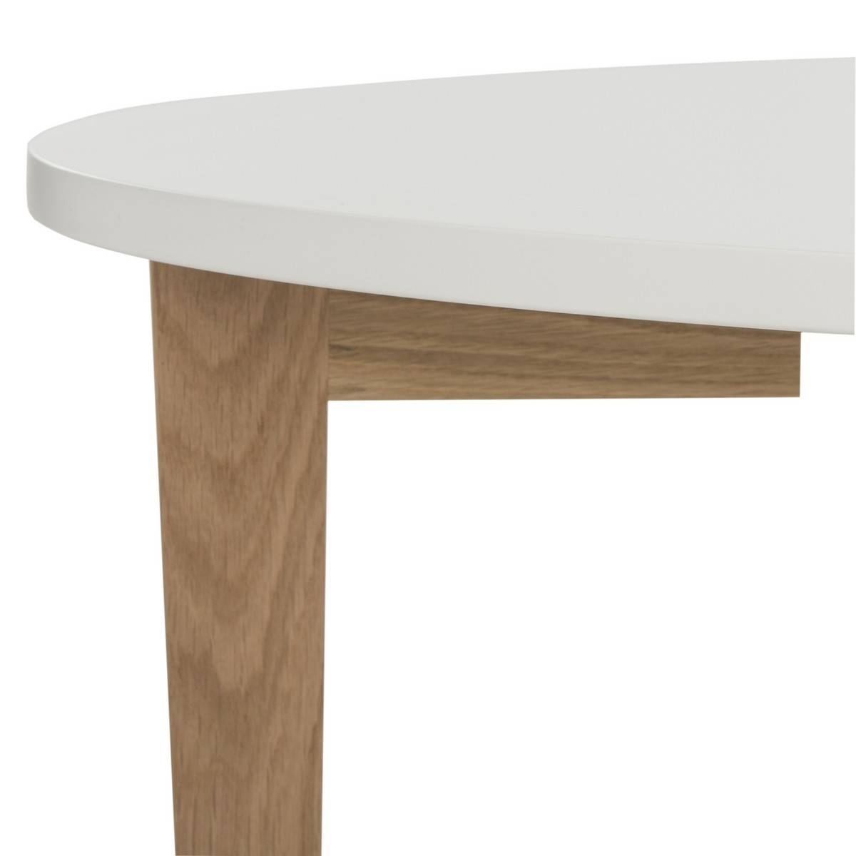 Fox8201A Coffee Tables - Furnituresafavieh with White Oval Coffee Tables (Image 13 of 30)