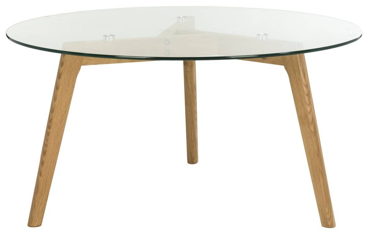 Fox8209A Coffee Tables - Furnituresafavieh pertaining to Round Glass And Wood Coffee Tables (Image 9 of 30)